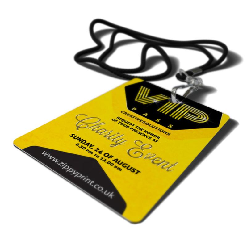 VIP Pass Printing