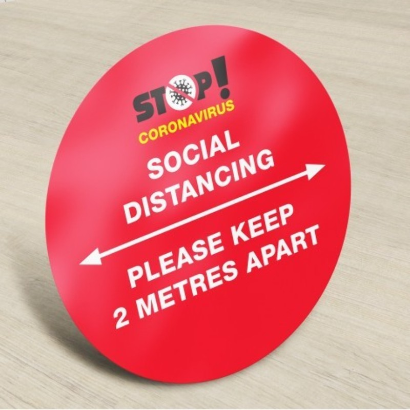 Social Distancing Floor Sign Stickers Printing