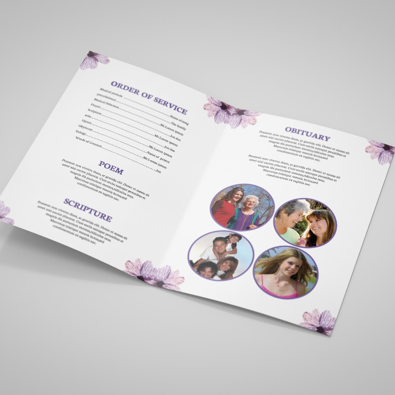 Funeral Order of Services printing