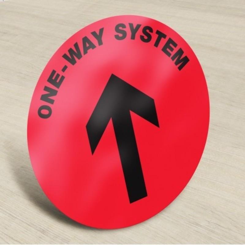 One-Way Direction Floor Stickers