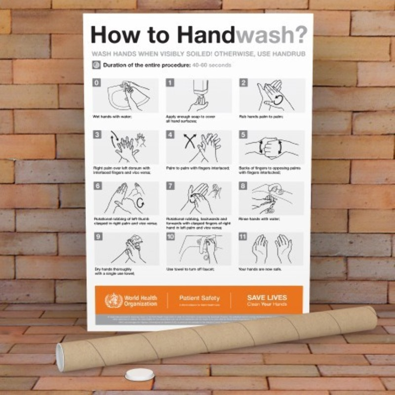 How to Wash Your Hands Posters Printing – Printed in A5, A4 & A3