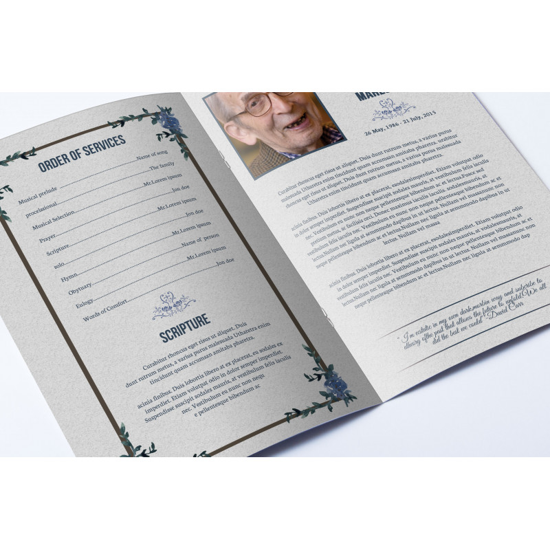Memorial Order of Services printing